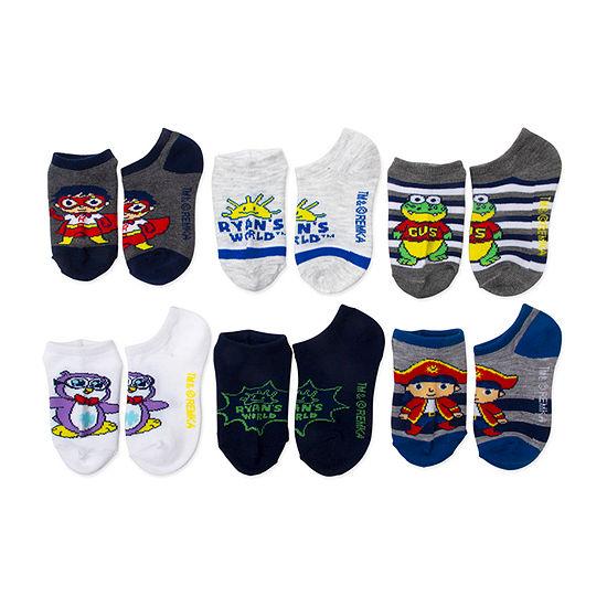 Little Boys 6 Pair No Show Socks
