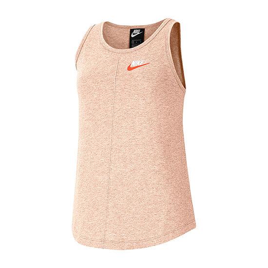 Nike Big Girls Round Neck Sleeveless T-Shirt