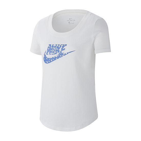 Nike Big Girls Crew Neck Short Sleeve Graphic T-Shirt
