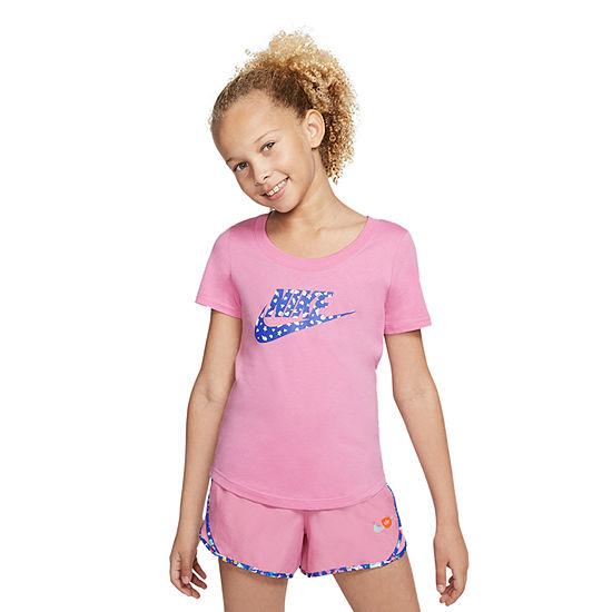 Nike - Big Kid Girls Crew Neck Short Sleeve Graphic T-Shirt