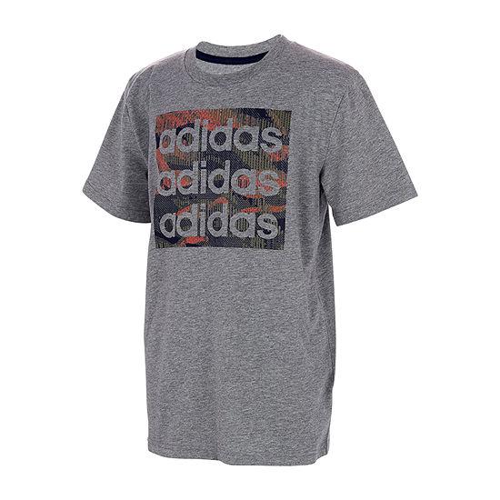 adidas - Big Kid Boys Round Neck Short Sleeve Graphic T-Shirt