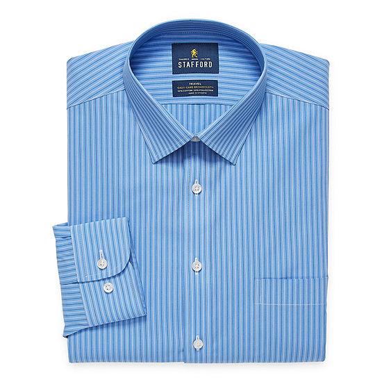 Stafford Mens Easy-Care Stretch Regular Fit Dress Shirt