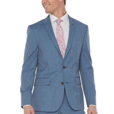 JF J.Ferrar-Slim Ultra Comfort Plaid Slim Fit Stretch Suit Jacket