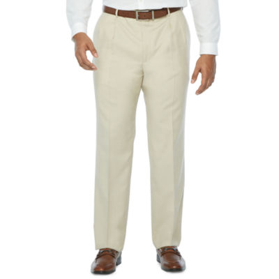 Stafford Super Stretch Classic Fit Pleated Suit Pants