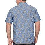 Unionbay Big and Tall Mens Short Sleeve Button-Down Shirt