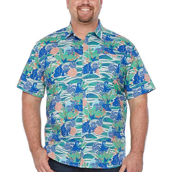 Unionbay Big and Tall Mens Short Sleeve Button-Down Shirt