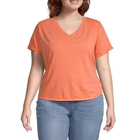 a.n.a-Plus Womens High V-Neck T-Shirt