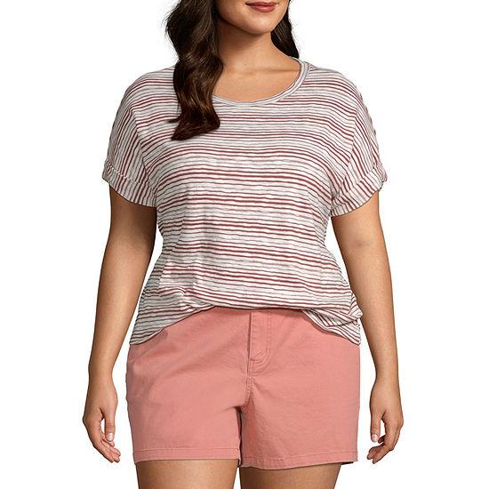 a.n.a-Plus Womens Dolman Relaxed T-Shirt