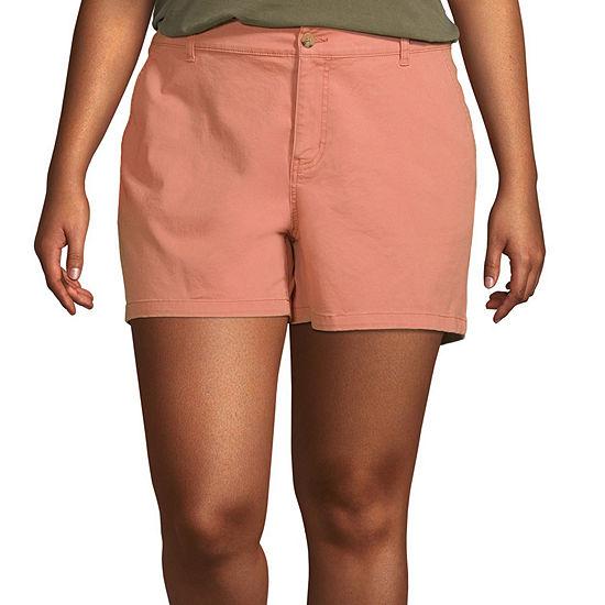 "a.n.a-Plus Womens 5.5"" Twill Short"