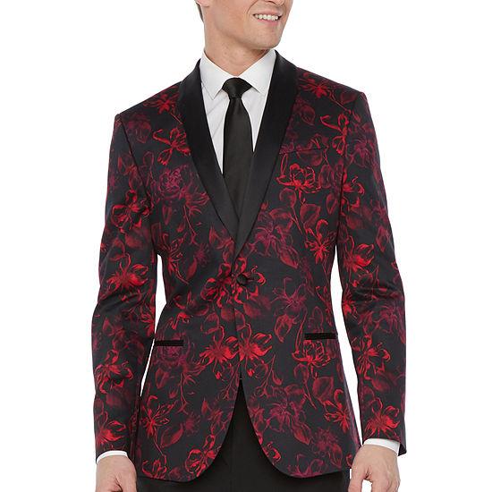 JF J.Ferrar Mens Slim Fit Tuxedo Jacket