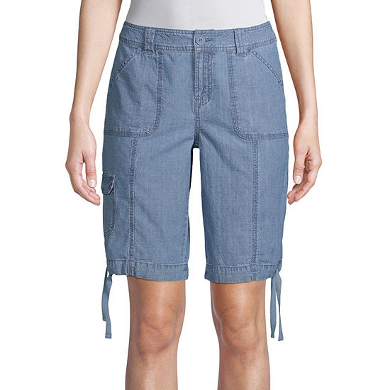 "St. John's Bay Womens Mid Rise 12"" Cargo Short - Tall"
