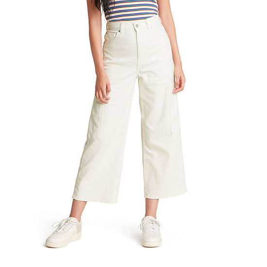 Levi's Utility Womens High Rise Wide Leg Cropped Jean