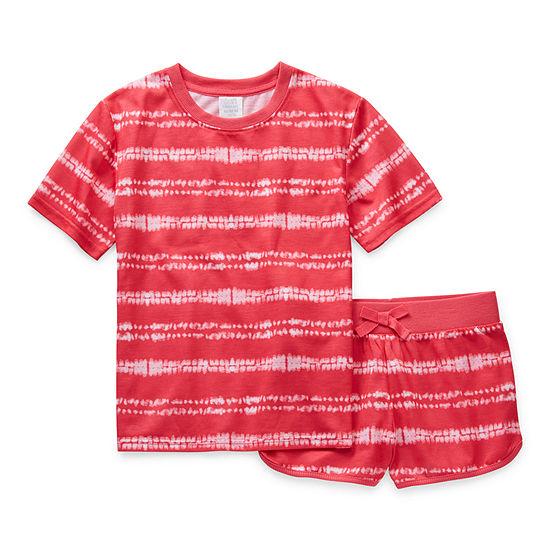 Peace Love And Dreams Little & Big Girls 2-pc. Shorts Pajama Set
