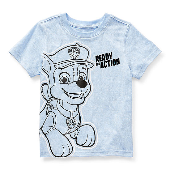 Okie Dokie Toddler Boys Crew Neck Paw Patrol Short Sleeve Graphic T-Shirt
