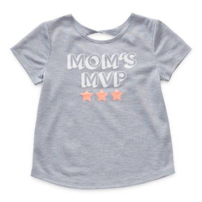 Okie Dokie Toddler Girls Round Neck Short Sleeve Graphic T-Shirt