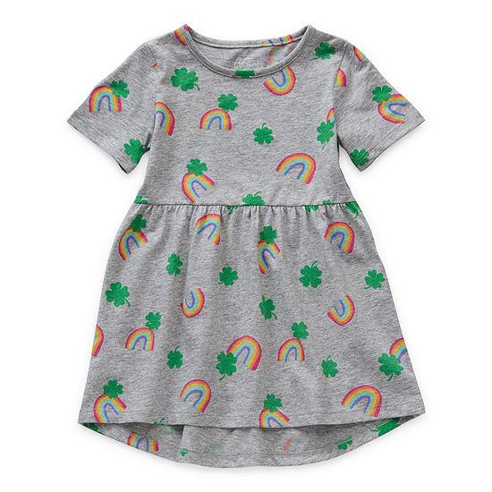 City Streets Toddler Girls Short Sleeve Shift Dress
