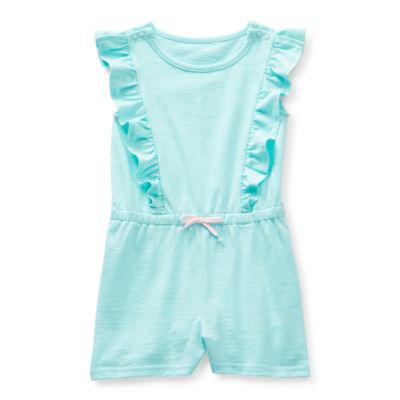 Okie Dokie Toddler Girls Short Sleeve Romper