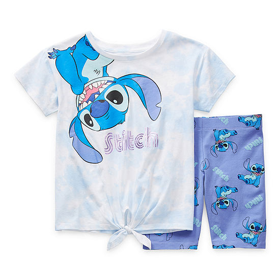 Disney Little & Big Girls 2-pc. Lilo & Stitch Short Set