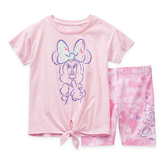 Disney Little & Big Girls 2-pc. Minnie Mouse Short Set