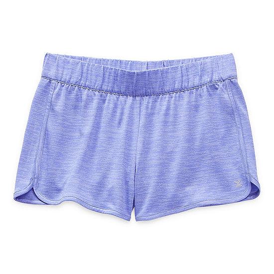 Xersion Little & Big Girls High Rise Adjustable Waist Running Short