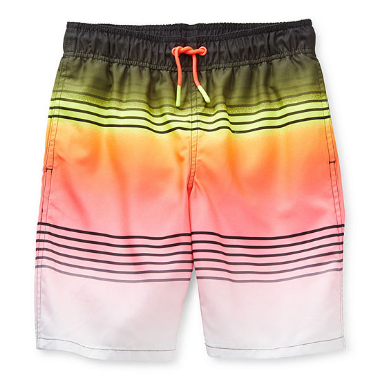 Arizona Little & Big Boys Ombre Swim Trunks