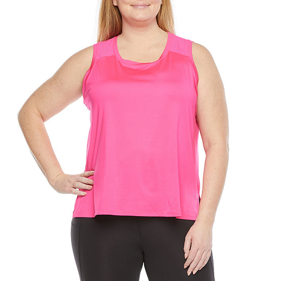Xersion Train Womens Round Neck Sleeveless Tank Top Plus