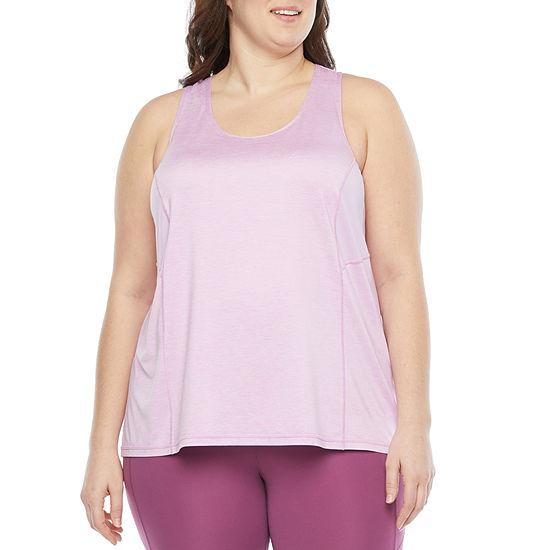 Xersion Everair Womens U Neck Sleeveless Tank Top Plus