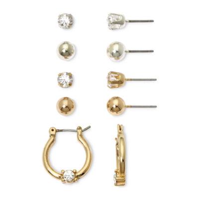 Mixit Silver- & Gold-Tone 5-pr. Earring Set