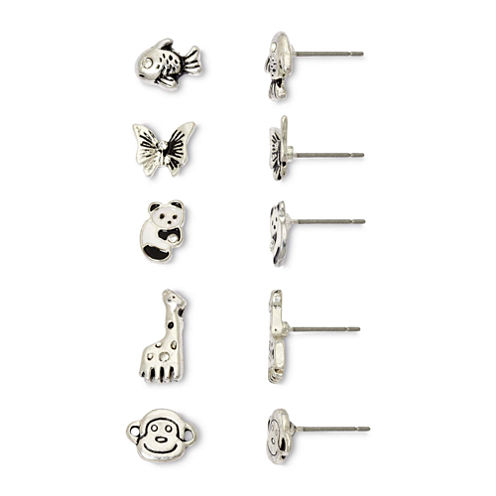 Mixit Land & Sea Critters 5-pr. Earring Set