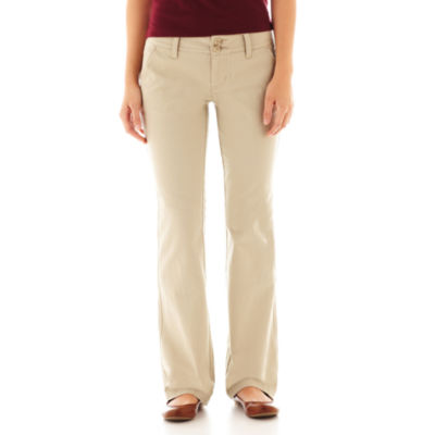 khaki pants womens arizona bootcut juniors jcpenney 11905
