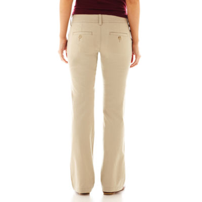 Arizona Schoolgirl Bootcut Pants-Juniors