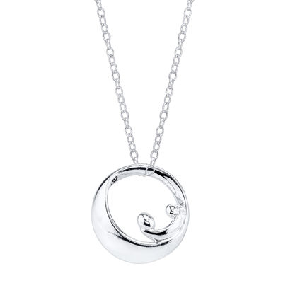 "Footnotes® Sterling Silver ""Forever"" Mother Pendant Necklace"