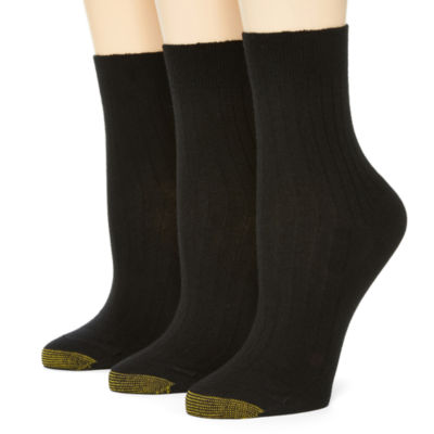 Solution by GoldToe® 3-pk. Non-Binding Salon Short Crew Socks