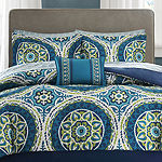 Madison Park Essentials Odisha Medallion Complete Bedding Set with Sheets