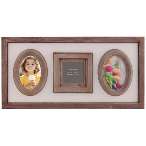 Burnes of Boston® Heartfelt Distressed 3-Opening Collage Picture Frame