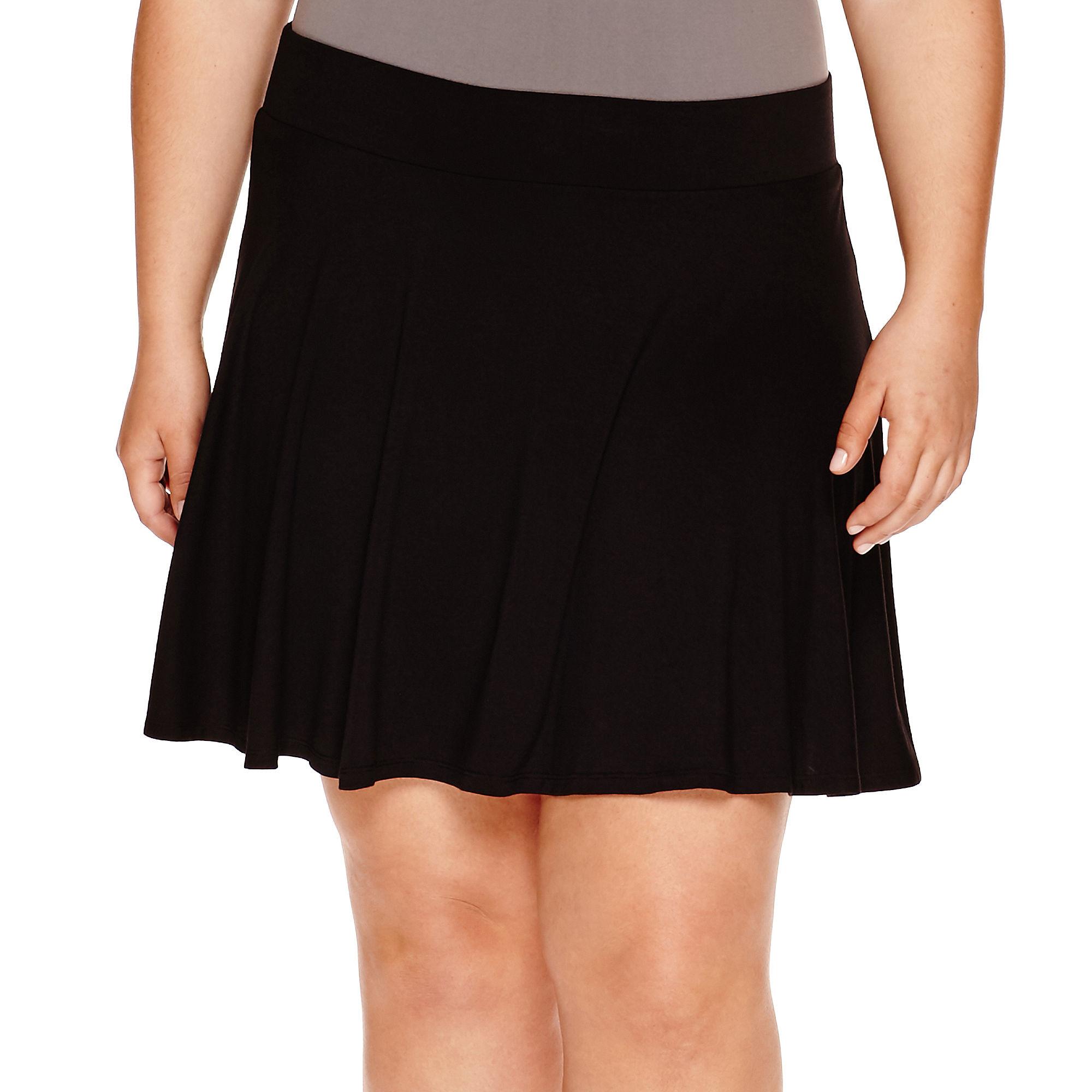 Decree Skater Skirt- Juniors Plus plus size,  plus size fashion plus size appare