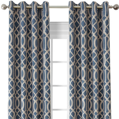 Harper Blackout Grommet-Top Curtain Panel
