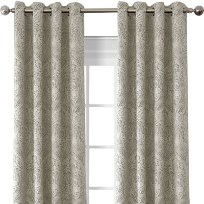 Julianne Blackout Grommet-Top Curtain Panel