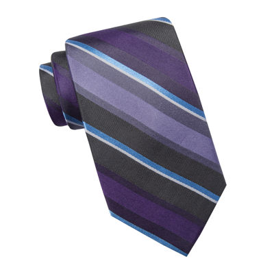 Collection by Michael Strahan Stripe Silk Tie - Extra Long