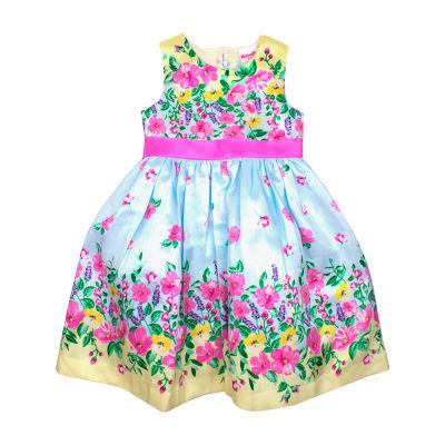 Nanette Baby Sleeveless Empire Waist Dress - Toddler Girls