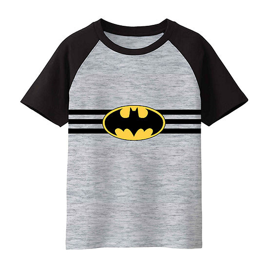 Warner Bros Boys Crew Neck Short Sleeve Batman Graphic T-Shirt-Toddler