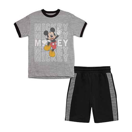 Disney Boys 2-pc. Mickey Mouse Short Set Toddler