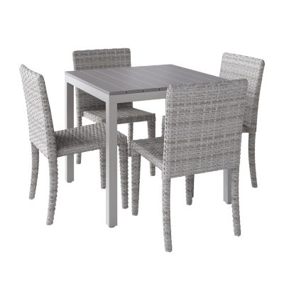 CorLiving Outdoor Square Dining Set with Blended Dining Chairs