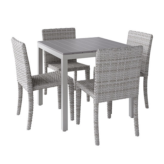 Jcpenney Furniture Dining Room Sets: CorLiving Outdoor Square Dining Set With Blended Dining
