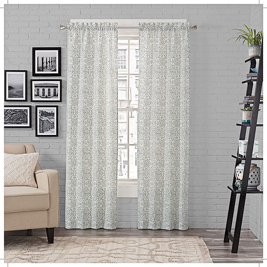 Pairs To Go Brockwell Light-Filtering Rod-Pocket Set of 2 Curtain Panel