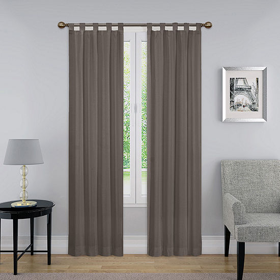 Pairs To Go Montana Light-Filtering Tab-Top Set of 2 Curtain Panel