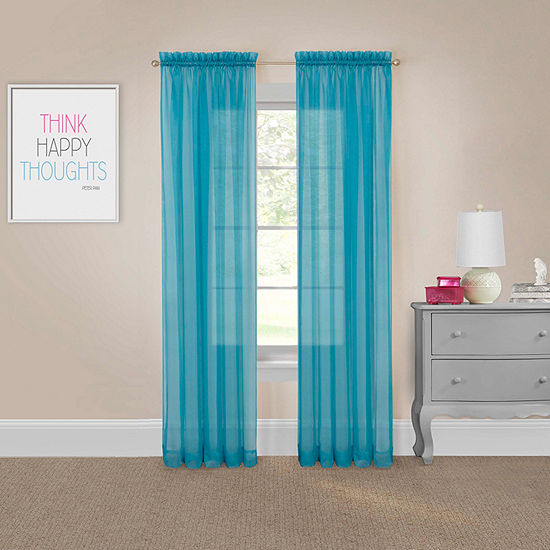 Pairs To Go Victoria Voile Sheer Rod-Pocket Set of 2 Curtain Panel