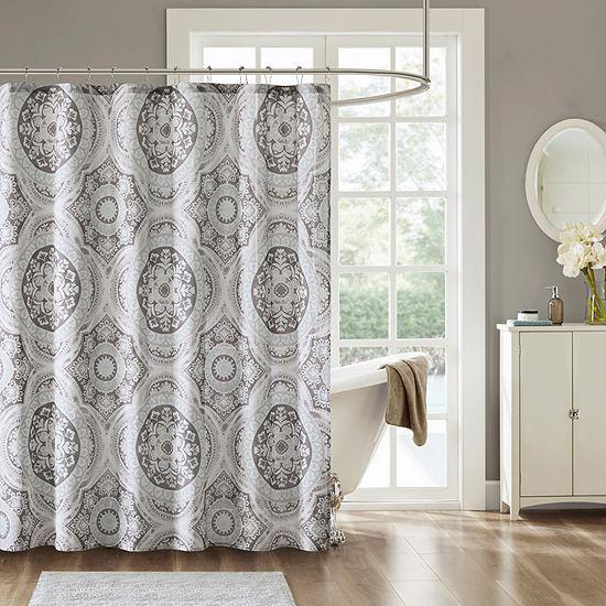 Madison Park Torin Cotton Printed Shower Curtain