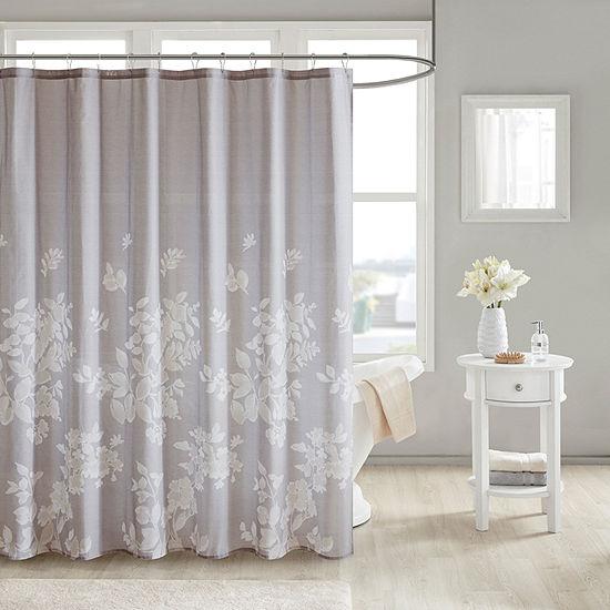 Madison Park Arlena Cotton Printed Shower Curtain