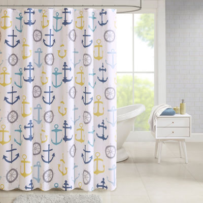 Madison Park Essentials Chase Nautical Printed Shower Curtain